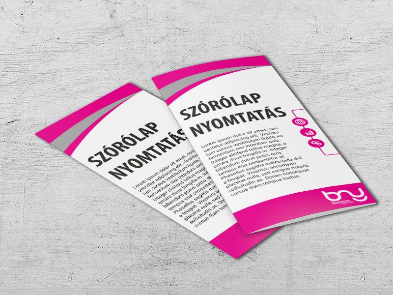 Hajtott brosúra nyomtatás