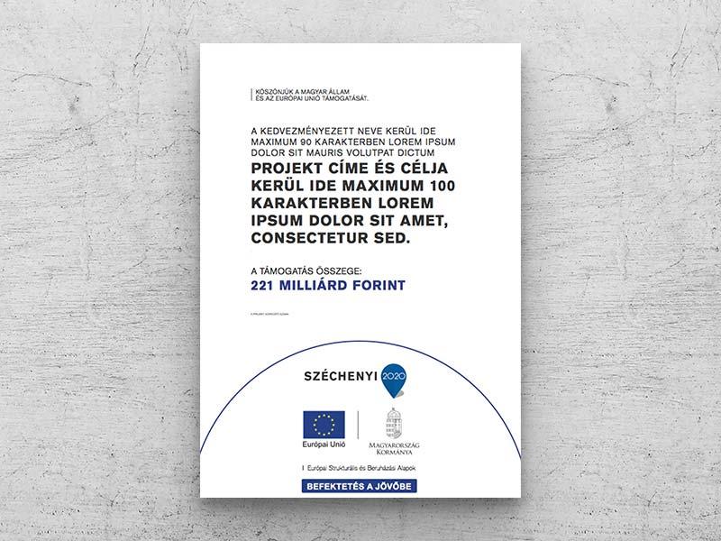 Széchenyi 2020 projekt táblák